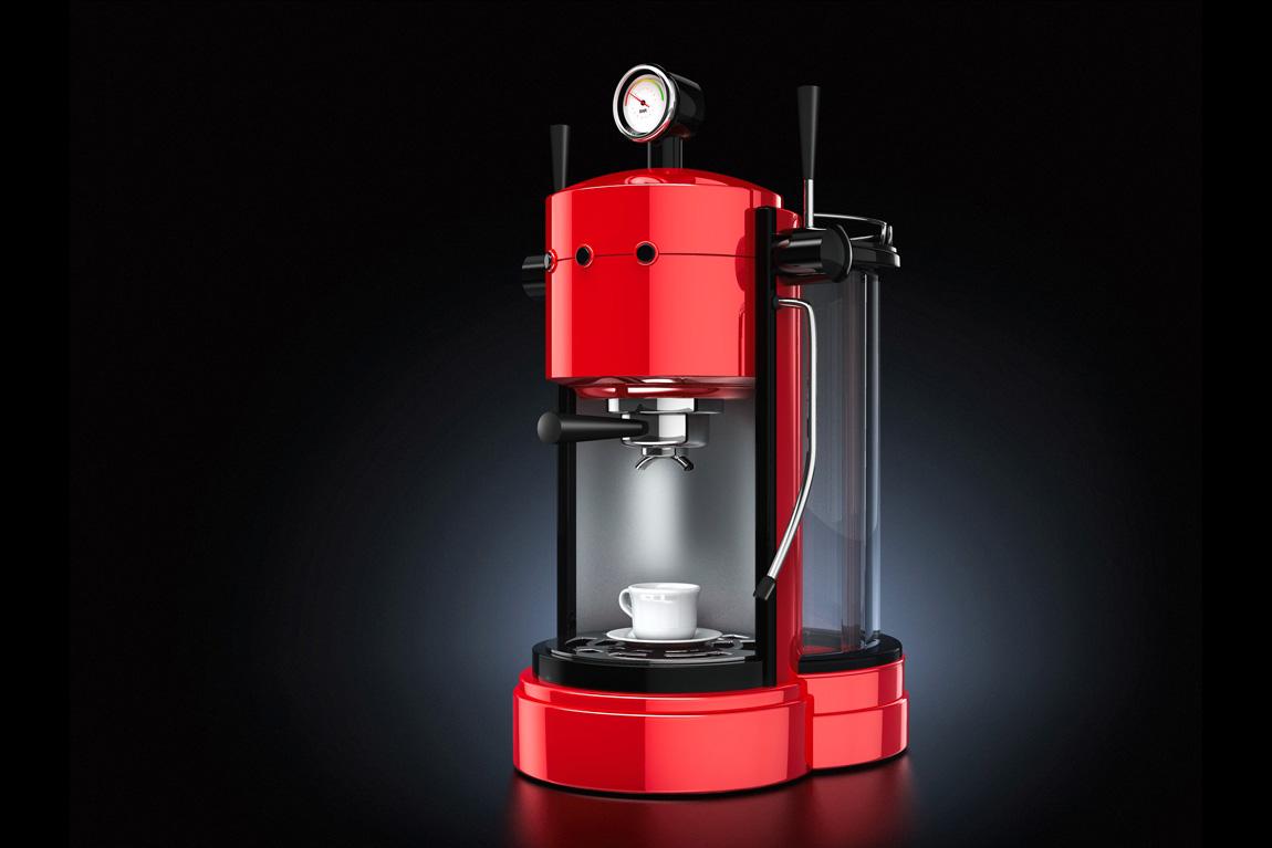 3D illustration of an espresso machine